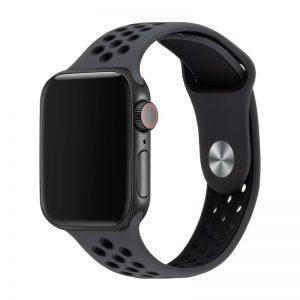 רצועת סיליקון ספורט לשעון חכם אפל בצבע שחור
