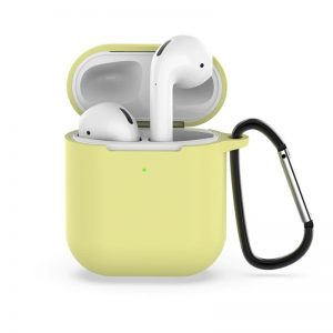 כיסוי לאיירפודס 1/2 מסיליקון איכותי בצבע צהוב