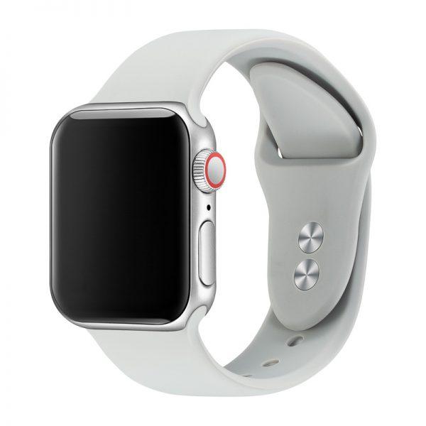 רצועת סיליקון לשעון חכם אפל בצבע אפור