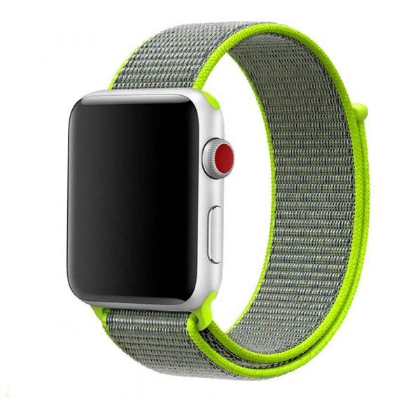 רצועת ספורט לשעון חכם אפל בצבע אפור_צהוב