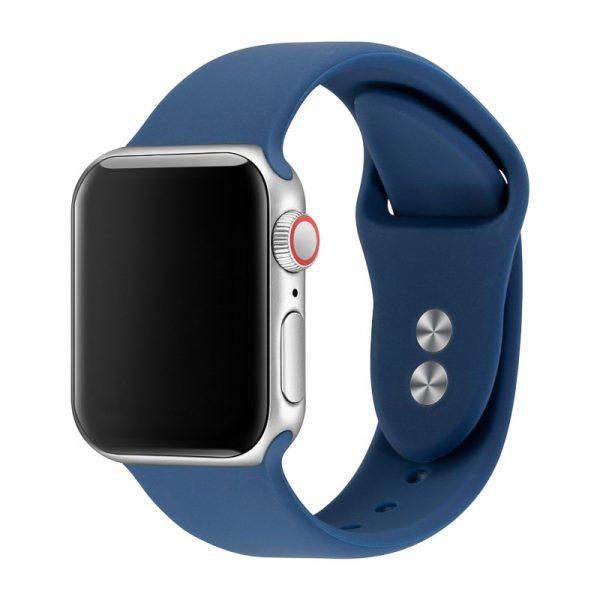 רצועת סיליקון לשעון חכם אפל בצבע MidNight Blue