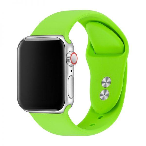 רצועת סיליקון לשעון חכם אפל בצבע ירוק