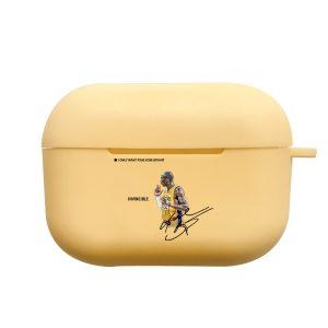 כיסוי מעוצב לאיירפודס פרו Bryant invincible בצבע צהוב