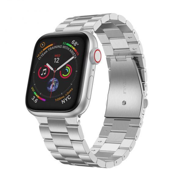 רצועת חוליות לשעון אפל בצבע כסף