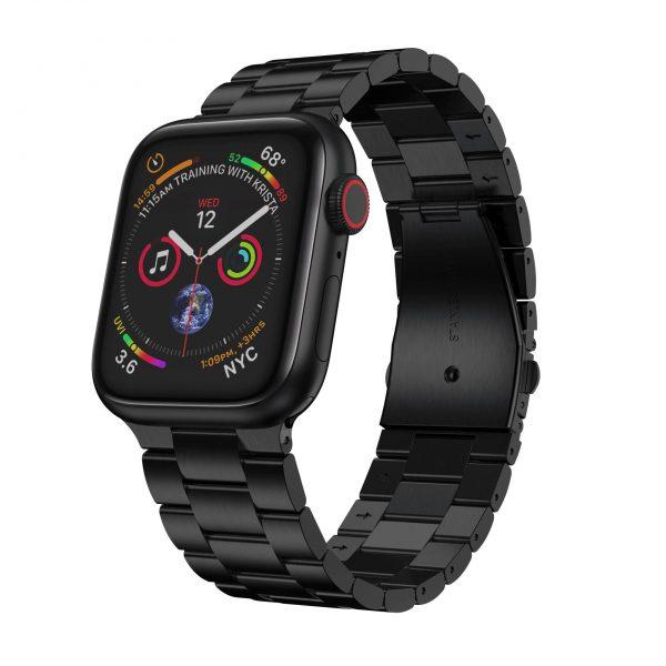 רצועת חוליות לשעון חכם אפל בצבע שחור
