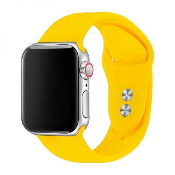 רצועת סיליקון לשעון חכם אפל בצבע צהוב