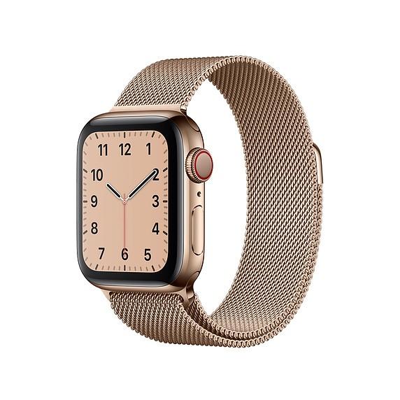 רצועת מתכת Milanese לשעון חכם אפל בצבע Rose gold