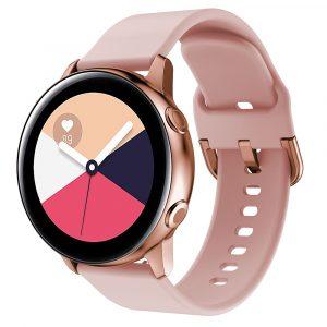 רצועת סיליקון לשעון חכם וואווי / סמסונג בצבע ורוד