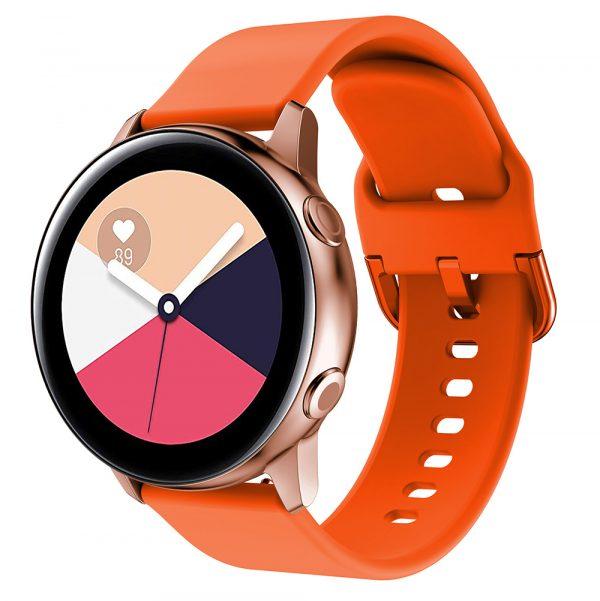 רצועת סיליקון לשעון חכם וואווי / סמסונג בצבע כתום