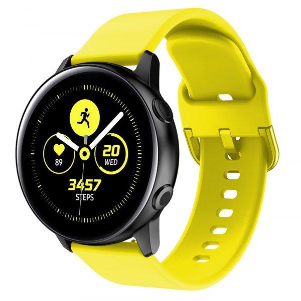 רצועת סיליקון לשעון חכם וואווי / סמסונג בצבע צהוב