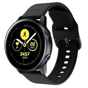 רצועת סיליקון לשעון חכם וואווי / סמסונג בצבע שחור