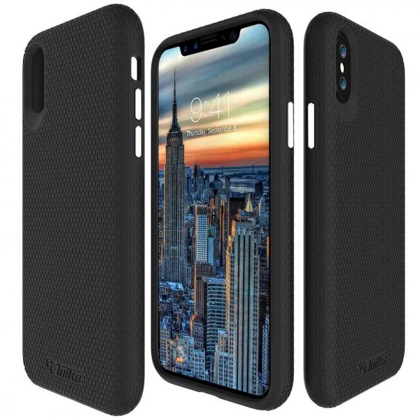 מגן קשיח לאייפון X/XS טויקו בצבע שחור