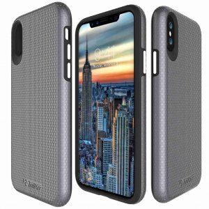 מגן קשיח לאייפון X/XS טויקו בצבע אפור