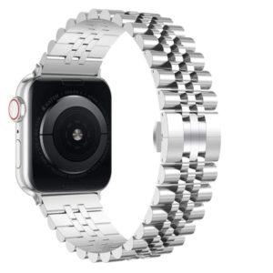 רצועת מתכת חוליות Five Beads לשעון חכם אפל בצבע כסף