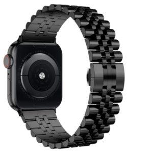 רצועת מתכת חוליות Five Beads לשעון חכם אפל בצבע שחור