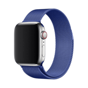 רצועת מתכת לשעון חכם אפל בצבע כחול