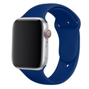 רצועת סיליקון לשעון חכם אפל בצבע Cobalt Blue