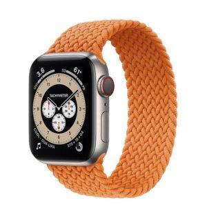 רצועת סולו לופ חבל לשעון חכם אפל בצבע כתום