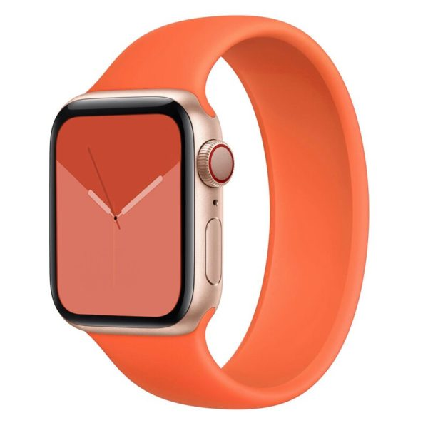רצועת סולו לופ סיליקון לשעון חכם אפל בצבע כתום
