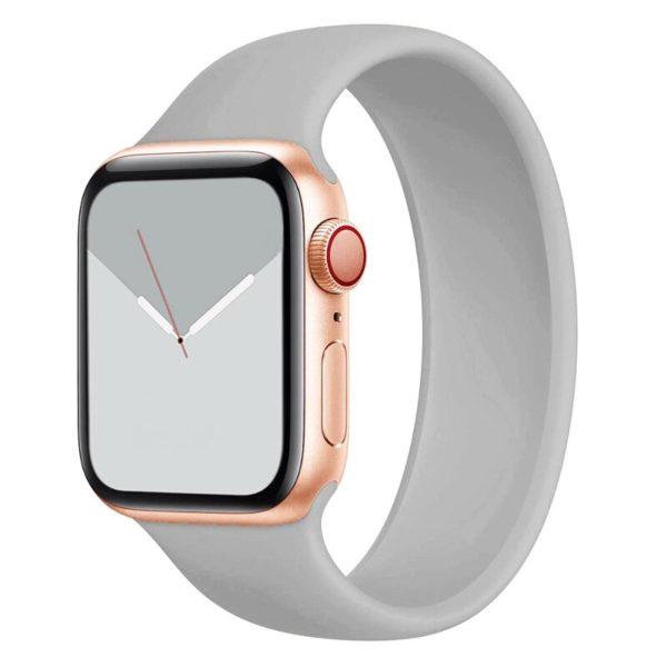 רצועת סולו לופ סיליקון לשעון חכם אפל בצבע אפור