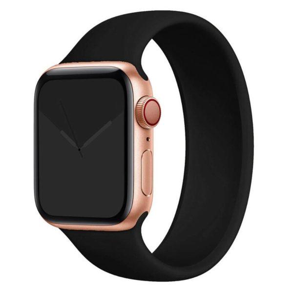 רצועת סולו לופ סיליקון לשעון חכם אפל בצבע שחור