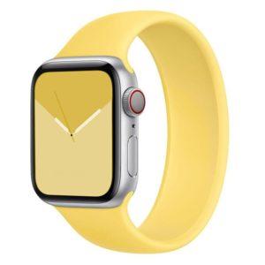 רצועת סולו לופ סיליקון לשעון חכם אפל בצבע צהוב