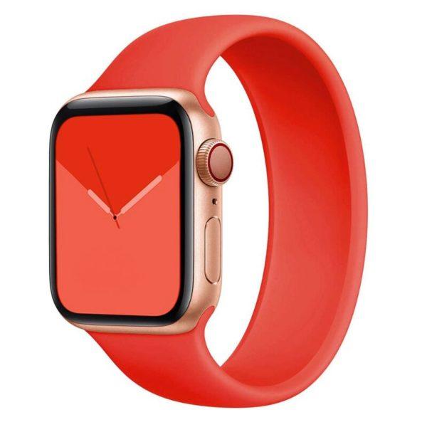 רצועת סולו לופ סיליקון לשעון חכם אפל בצבע אדום