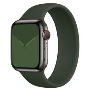 רצועת סולו לופ סיליקון לשעון חכם אפל בצבע ירוק כהה