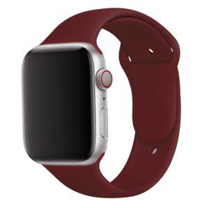 רצועת סיליקון לשעון חכם אפל בצבע Wine Red