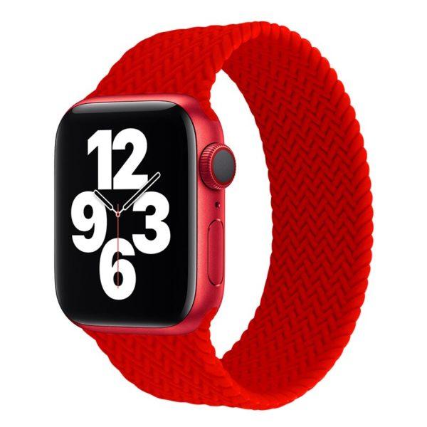 רצועת סולו לופ חבל לשעון חכם אפל בצבע אדום