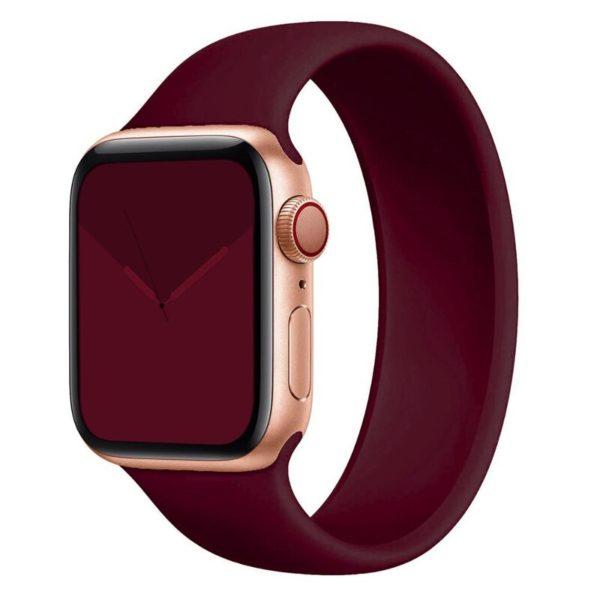 רצועת סולו לופ סיליקון לשעון חכם אפל בצבע Wine Red